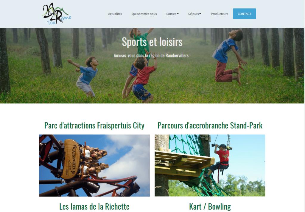 site consacré au tourisme dans les Vosges